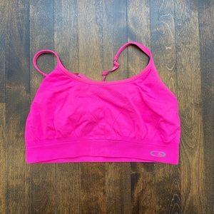 Champions neon pink sports bra